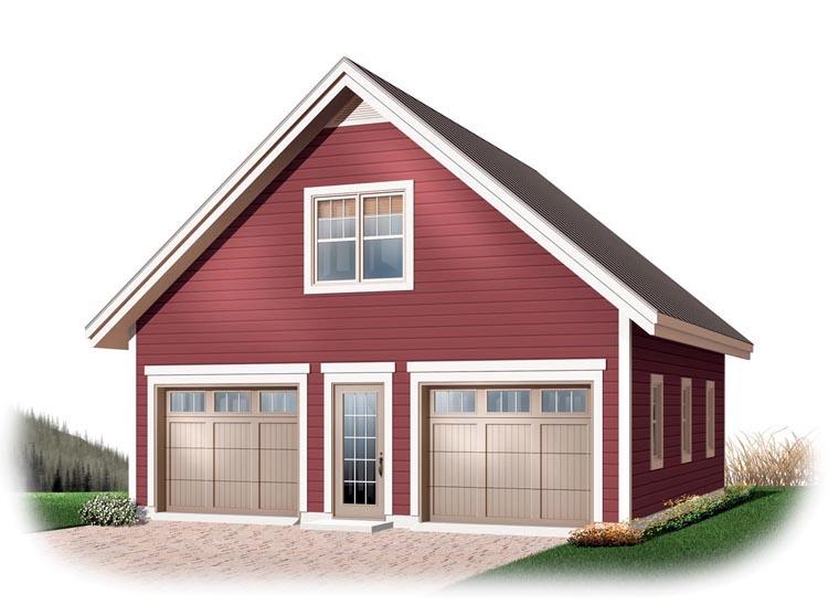 2 Car Garage Plan 64868 Elevation
