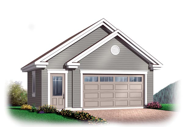 Craftsman, Traditional 2 Car Garage Plan 64873 Elevation