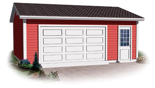 Ranch, Traditional 2 Car Garage Plan 64878 Front Elevation