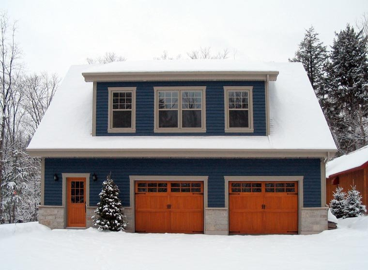 Country, Craftsman, Traditional 2 Car Garage Apartment Plan 64902 with 2 Beds, 2 Baths Picture 1