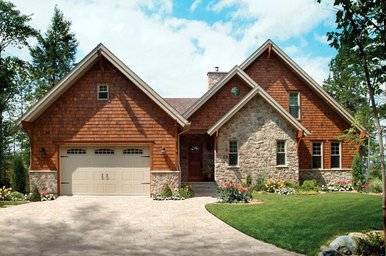 Coastal, Country, Craftsman House Plan 64981 with 5 Beds, 4 Baths, 2 Car Garage Picture 4