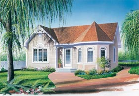 One-Story, Victorian House Plan 65005 with 2 Beds, 1 Baths Elevation