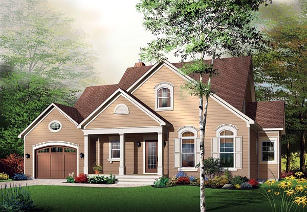 Traditional House Plan 65108 with 4 Beds, 4 Baths, 1 Car Garage Front Elevation