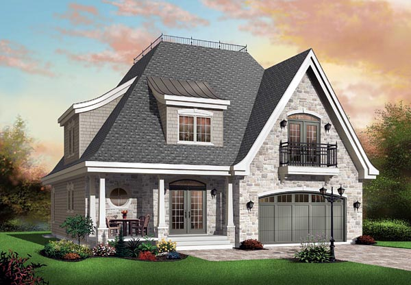 Victorian House Plan 65112 with 4 Beds, 4 Baths, 2 Car Garage Elevation