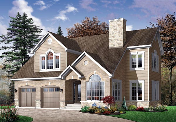 Traditional House Plan 65113 with 4 Beds, 4 Baths, 2 Car Garage Elevation