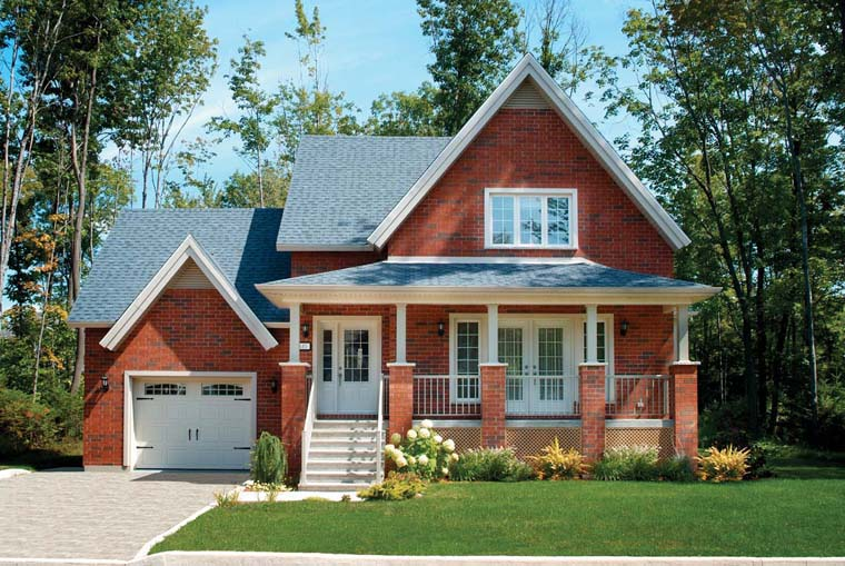 Country House Plan 65150 with 2 Beds, 2 Baths, 1 Car Garage Elevation