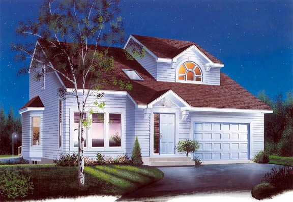 Contemporary, Traditional House Plan 65197 with 3 Beds, 2 Baths, 1 Car Garage Elevation