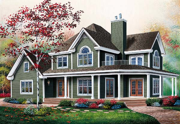 Country, Traditional House Plan 65237 with 3 Beds, 3 Baths, 2 Car Garage Elevation