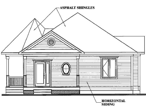 Bungalow, Cabin, Coastal, Country, Victorian House Plan 65263 with 1 Beds, 1 Baths Picture 2