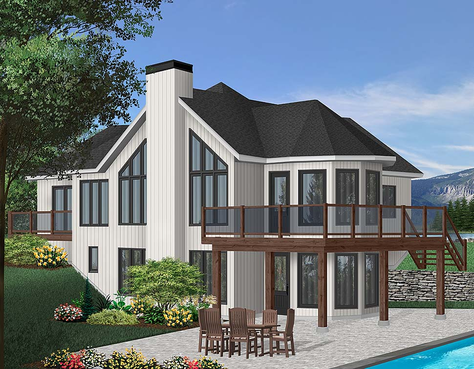 Contemporary, Craftsman House Plan 65283 with 2 Beds, 2 Baths Front Elevation