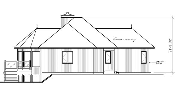 Contemporary, Craftsman House Plan 65283 with 2 Beds, 2 Baths Picture 1