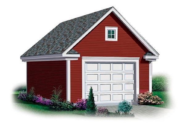 1 Car Garage Plan 65293 Elevation