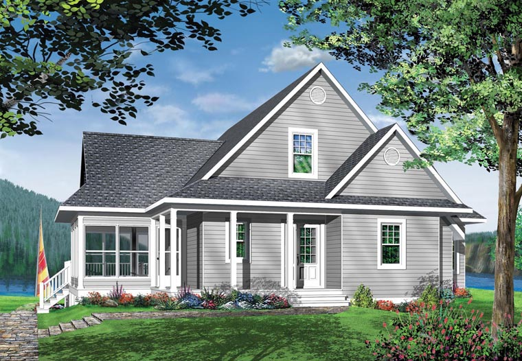 Coastal, Country, Craftsman, Traditional House Plan 65380 with 3 Beds, 2 Baths Elevation