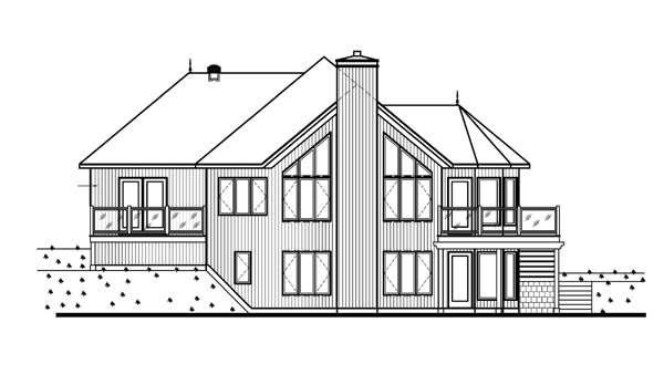 Bungalow, Contemporary, Craftsman House Plan 65390 with 3 Beds, 3 Baths, 1 Car Garage Picture 2