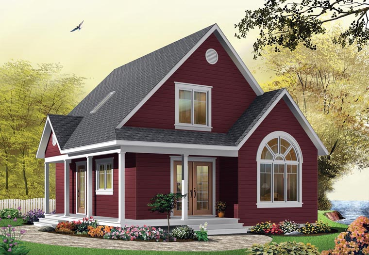 Country House Plan 65394 with 2 Beds, 2 Baths Front Elevation