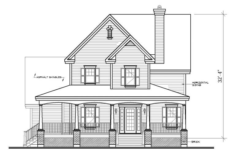 Country, Southern House Plan 65423 with 4 Beds, 4 Baths, 2 Car Garage Picture 3