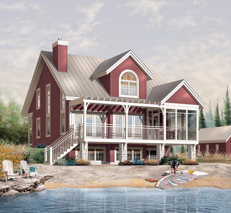 Country House Plan 65445 with 3 Beds, 2 Baths Elevation