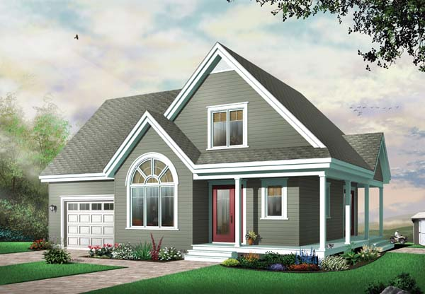 Country, Traditional House Plan 65487 with 3 Beds, 2 Baths, 1 Car Garage Front Elevation