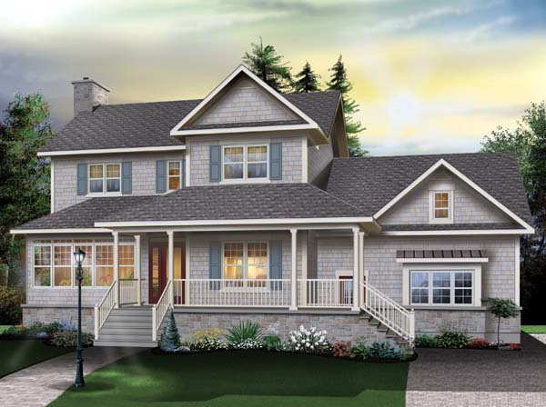 Country, Farmhouse, Traditional House Plan 65510 with 4 Beds, 3 Baths, 2 Car Garage Elevation