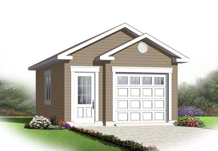 1 Car Garage Plan 65525 Elevation