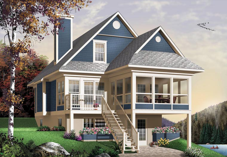 Country House Plan 65576 with 3 Beds, 2 Baths Elevation