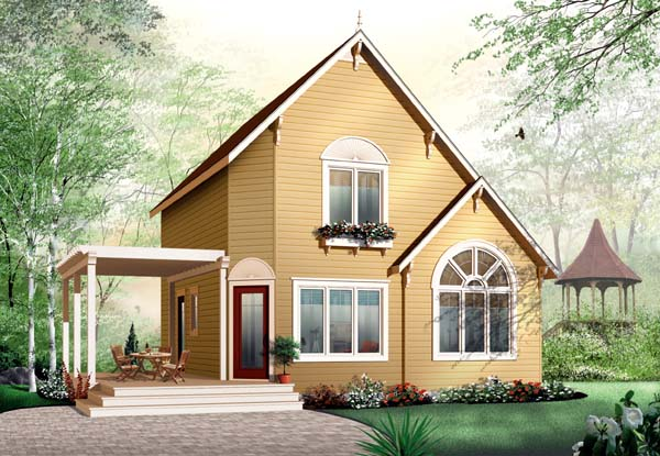 Traditional House Plan 65577 with 3 Beds, 2 Baths Front Elevation