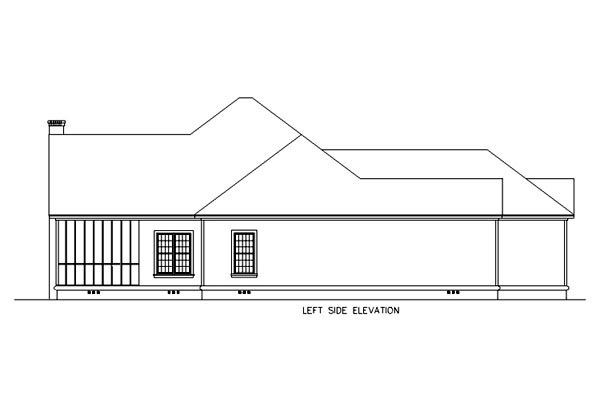 Florida, Mediterranean House Plan 65602 with 3 Beds, 2 Baths, 2 Car Garage Picture 1