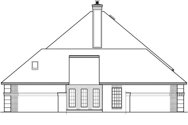 European House Plan 65627 with 3 Beds, 2 Baths, 3 Car Garage Picture 2