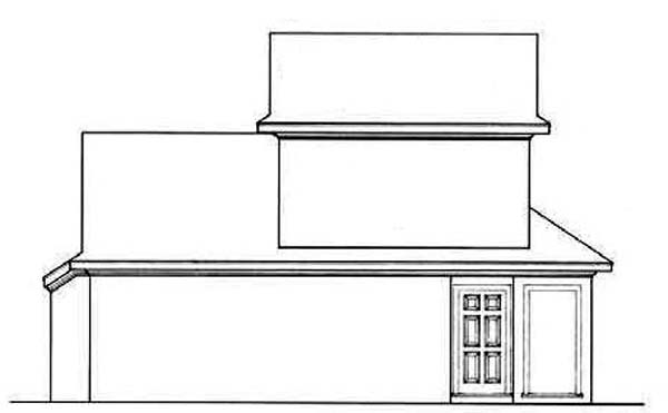 Bungalow, Contemporary, Country House Plan 65639 with 2 Beds, 2 Baths Rear Elevation
