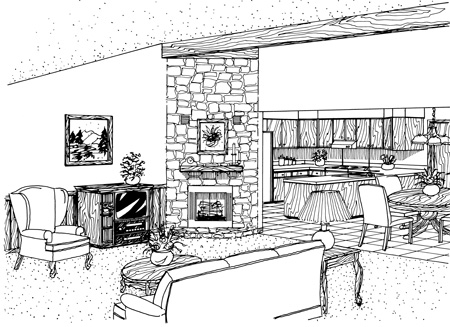 Cabin, Country, Ranch House Plan 65648 with 3 Beds, 2 Baths, 2 Car Garage Picture 1