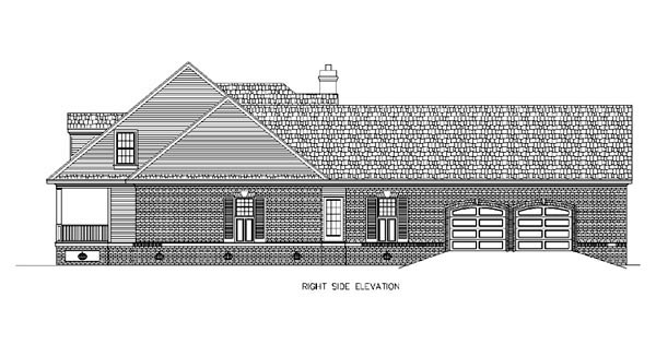 Cape Cod, Country House Plan 65663 with 4 Beds, 4 Baths, 2 Car Garage Picture 2