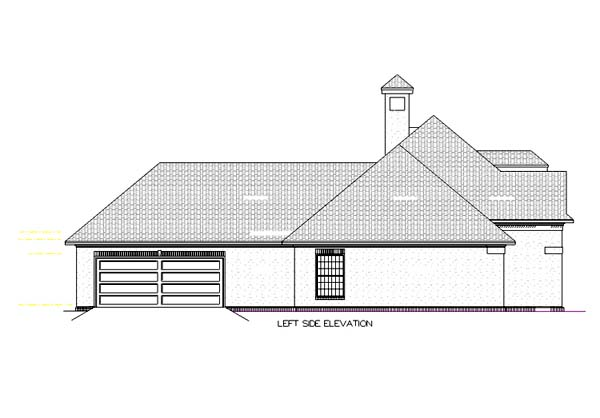 European, Mediterranean, One-Story House Plan 65678 with 4 Beds, 2 Baths, 2 Car Garage Picture 2