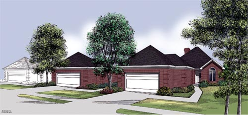 One-Story, Traditional House Plan 65696 with 3 Beds, 2 Baths, 2 Car Garage Elevation