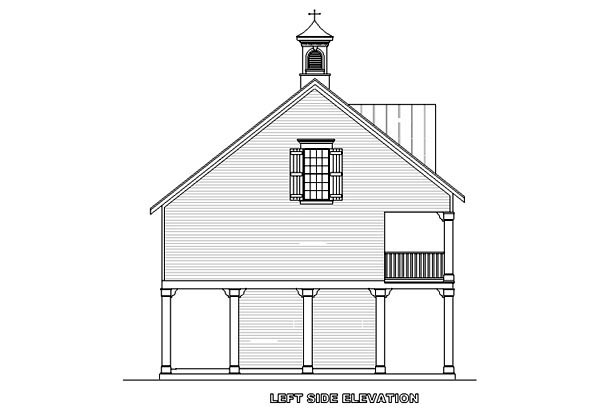 Coastal Plan with 1110 Sq. Ft., 2 Bedrooms, 2 Bathrooms, 3 Car Garage Picture 3