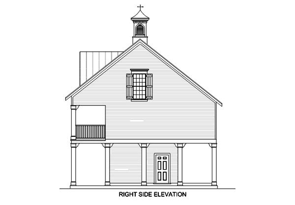 Coastal Plan with 1110 Sq. Ft., 2 Bedrooms, 2 Bathrooms, 3 Car Garage Picture 4