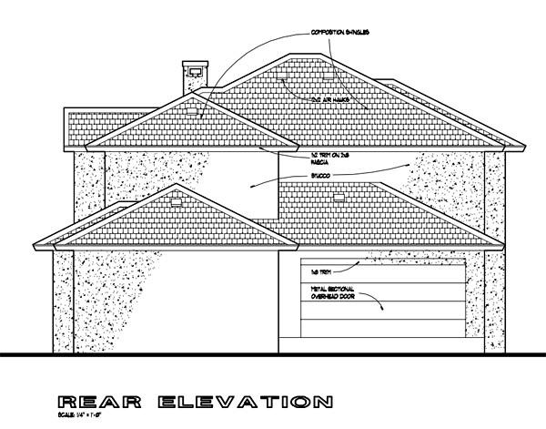 Southwest Multi-Family Plan 65865 with 6 Beds, 6 Baths, 4 Car Garage Rear Elevation