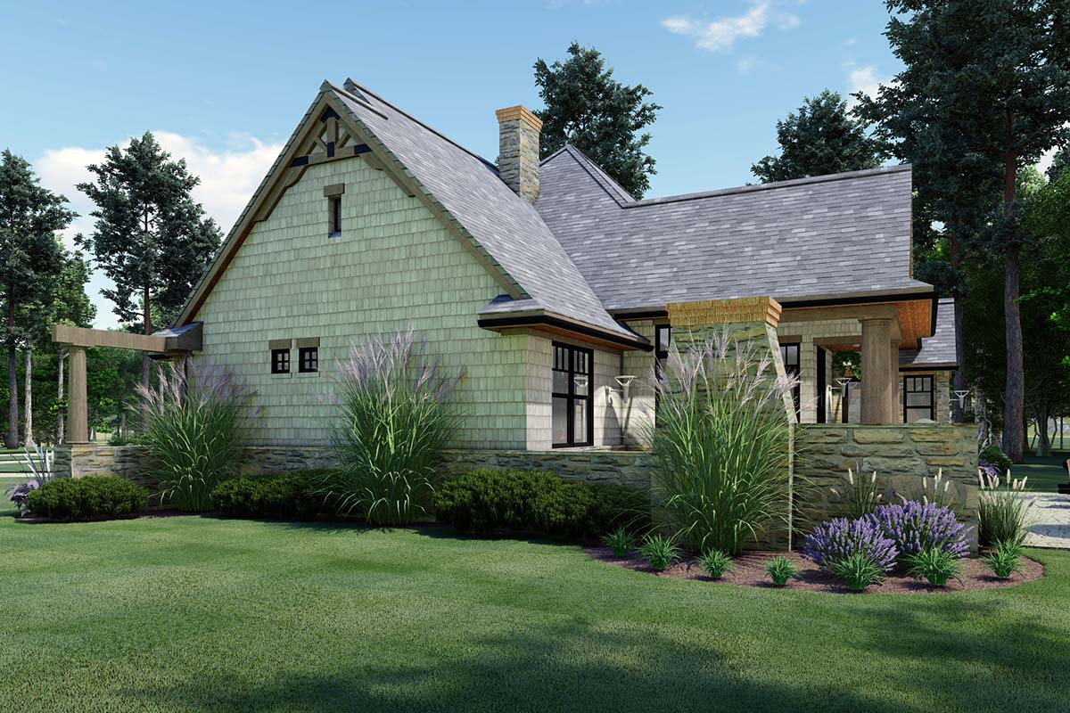 Cottage, Craftsman, Ranch, Tuscan House Plan 65867 with 3 Beds, 2 Baths, 2 Car Garage Picture 2