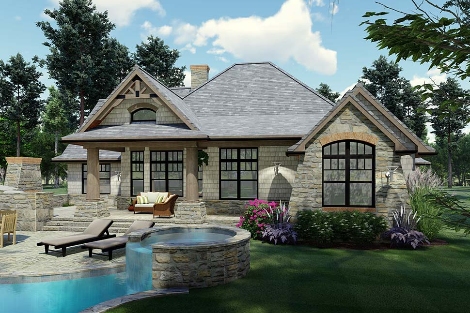 Cottage, Craftsman, Ranch, Tuscan House Plan 65867 with 3 Beds, 2 Baths, 2 Car Garage Picture 9