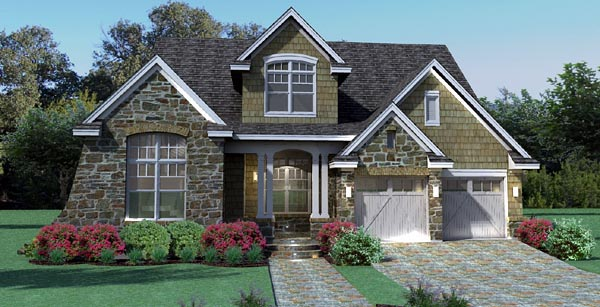 Cottage, Craftsman, Southern, Traditional, Tuscan House Plan 65868 with 3 Beds, 3 Baths, 2 Car Garage Front Elevation