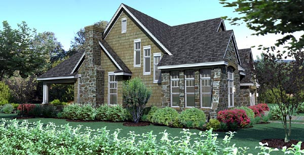 Cottage, Craftsman, Southern, Traditional, Tuscan House Plan 65868 with 3 Beds, 3 Baths, 2 Car Garage Picture 2