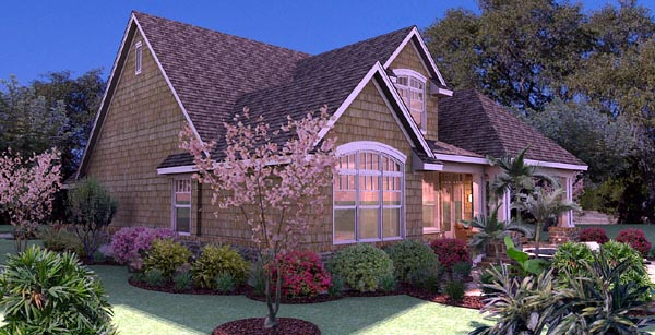 Cottage, Craftsman, Southern, Traditional, Tuscan House Plan 65868 with 3 Beds, 3 Baths, 2 Car Garage Picture 4