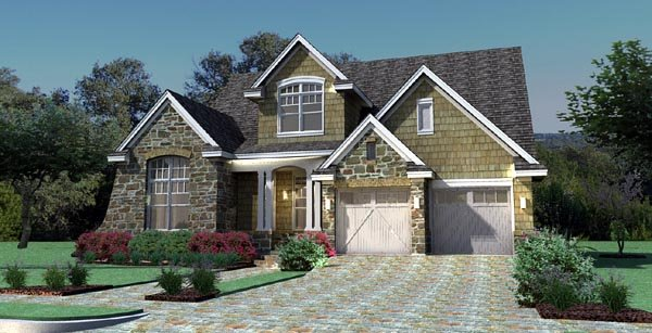 Cottage, Craftsman, Southern, Traditional, Tuscan House Plan 65868 with 3 Beds, 3 Baths, 2 Car Garage Picture 5