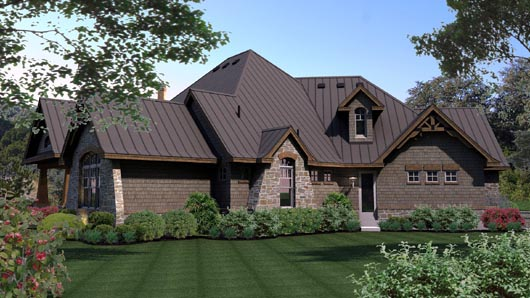 Cottage, Craftsman, Tuscan House Plan 65869 with 3 Beds, 3 Baths, 3 Car Garage Picture 7