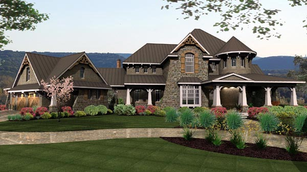Cottage, Craftsman, European, Tuscan House Plan 65872 with 4 Beds, 4 Baths, 3 Car Garage Picture 15