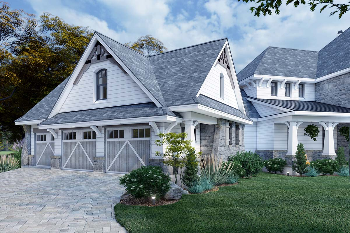 Cottage, Craftsman, European, Tuscan House Plan 65872 with 4 Beds, 4 Baths, 3 Car Garage Picture 2