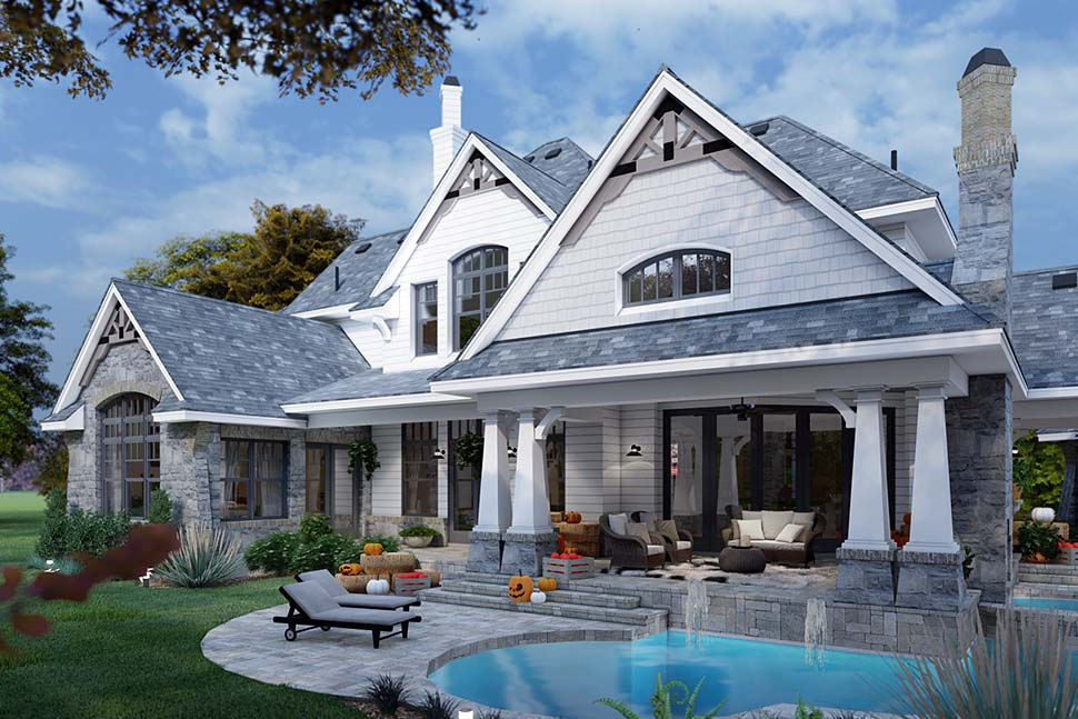 Cottage, Craftsman, European, Tuscan House Plan 65872 with 4 Beds, 4 Baths, 3 Car Garage Picture 6