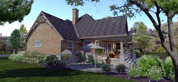 Cottage, Craftsman, Ranch, Tuscan House Plan 65873 with 4 Beds, 2 Baths, 2 Car Garage Picture 2
