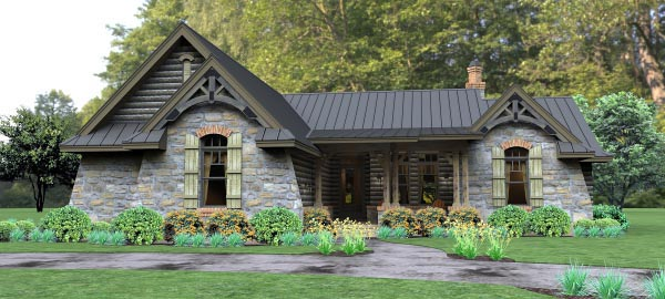 Cottage, Country, Tuscan House Plan 65874 with 3 Beds, 3 Baths, 2 Car Garage Front Elevation