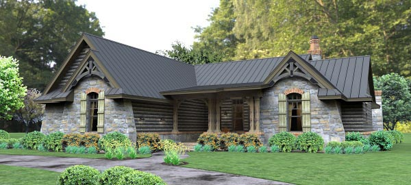 Cottage, Country, Tuscan House Plan 65874 with 3 Beds, 3 Baths, 2 Car Garage Picture 1