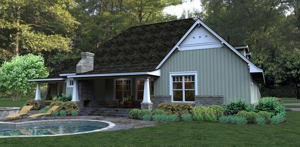 Bungalow, Cottage, Country, Tuscan House Plan 65875 with 3 Beds, 3 Baths, 2 Car Garage Picture 5